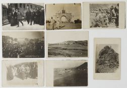SEVEN POSTCARDS OF MECCA AND MEDINA WITH DIFFERENT SUBJECTS, JAMAL PASHA WITH SHARIF MECCA, THE OTTO