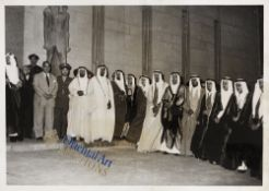 A RARE PHOTOGRAPH SHOWING KING ABDUL AZIZ'S SONS IN EYGPT