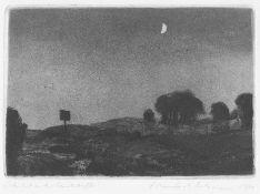 Butzmann, Manfred. Schild in der Landschaft