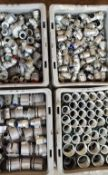 Lot of (4) Trays of Conduit Connectors