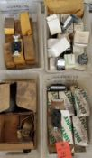(4) Trays of Receptacles, Switch Bodies, More