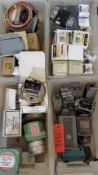 (4) Trays Variety Of Switches, Pressure & More