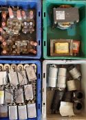 (4)Trays of Capacitors, Replacement Plug Ins, More
