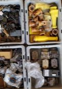 (4)Trays of Switches, Contacts, Timers, & More