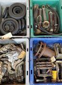 (4) Trays of Misc. Conntactors & Seals
