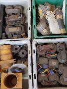 (4) Trays Armature Coils, Fiber Brackets, More