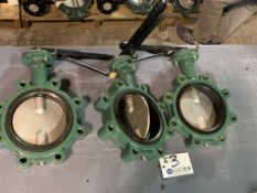"""(3) 6"""" Stainless Gate Valves with Ratchet Handle NEW"""