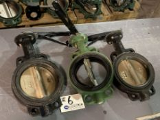 """(3) 6"""" Gate Valves with Ratchet Handle NEW"""