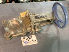 """DeZurik 3"""" Stainless Knife Gate Valve with Wheel, Part No. 9390617 NEW"""