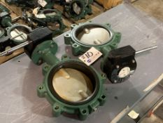 """(2) 8"""" Stainless Gate Valves with Worm Drive NEW"""