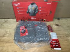 Milwaukie Heated Hooded Sweatshirt New In Box. Comes with battery, no charger