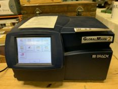 Brady Global Mark 2 Cut and Color Label Making Printer with green, yellow, white cartridges