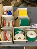 Assorted Red, Yellow, and Green Duralabel Vinyl Pinter Rolls