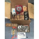 Assorted Precision Reamers, horizontal cutters, end mills, drill bits etc