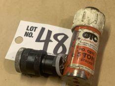 """OTC 5-Ton Hydraulic Cylinder 1"""" Stroke"""