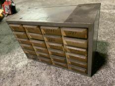 24-Compartment Tool Cabinet No contents