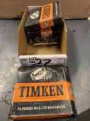 (4) Timken Tapered Roller Bearings New In Box