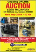 Lewis Machinery Auction