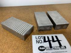 "(3) Magnetic Machinist Blocks 4"" x 2"" x 1"""