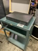"""18"""" x 12"""" x 3"""" Thick Granite Surface Plate With Steel job cart"""