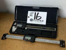 "6"" Digital Vernier Calipers with 8"" Horizontal Digital Linear Scale"