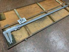 """Mitutoyo 40"""" Manual Vernier Calipers with original box"""