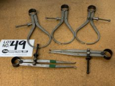 Assorted Precision Inside/Outside Calipers
