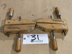 """Set of Jorgensen 6"""" Adjustable Wood Clamps"""