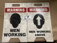 "2 ""Men Working"" Signs"