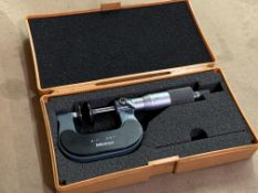 """Mitutoyo 0""""-1"""" OD Micrometer Set with Standard"""