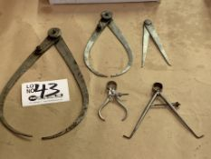 5 Assorted Inside/Outside Micrometers