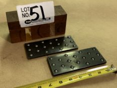 """Set of Montgomery 6"""" parallels w/roller bearings"""