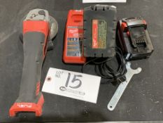 """Milwaukee Cordless 5"""" Right Angle Grinder w/charger and 2 batteries 18v"""