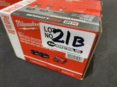 (2) New in Box Milwaukee M18 Red Lithium Batteries w/charger