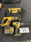 """DeWalt Cordless Sawzall, 1/2"""" Drill Driver with battery, charger and bag"""