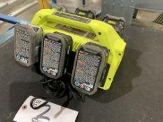 Ryobi Supercharger 6-station Battery Charger w/(6) 18v batteries