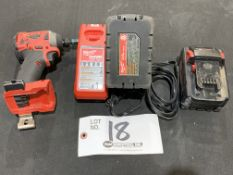 """Milwaukee 1/4"""" Impact Driver w/charger and 2 batteries"""