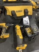 """DeWalt Cordless Sawzall, 1/2"""" Drill Driver 3/8"""" RA Drill 20v with battery, charger and bag"""