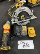 """DeWalt 5"""" Cordless Right Angle Grinder and 7"""" Circular Saw w/battery and charger"""
