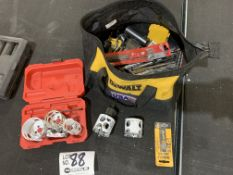 Assorted Hole Saw Bits and Concrete Screws