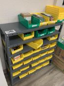 3' X 1' Metal Shelf w/assorted consumables