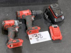 """Craftsman 1/4"""" Cordless Impact Driver, 1/2"""" Drill Driver w/2 batteries and charger"""