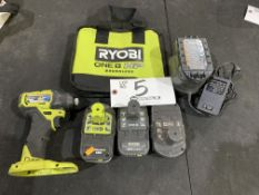 """Ryobi Cordless 1/4"""" Impact Driver model PSB1D01CN w/charger and 4 batteries"""