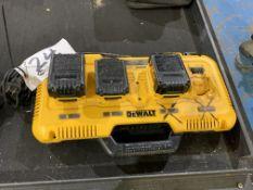 DeWalt Fast Charge Multi-Station model DCB104 w/3 batteries 20v