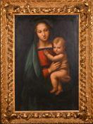 After Raffaello Sanzio da Urbino, called Raphael (1483-1520) Italian. 'Madonna Del Grandula',
