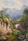 "A… A… C… (Early 20th Century) British. ""Tramuntana, Mallorca"", a River Scene in a Mountainous"