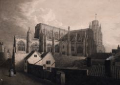 "19th Century English School. ""St Mary Redcliffe Church, Bristol"", Watercolour, Inscribed on the"