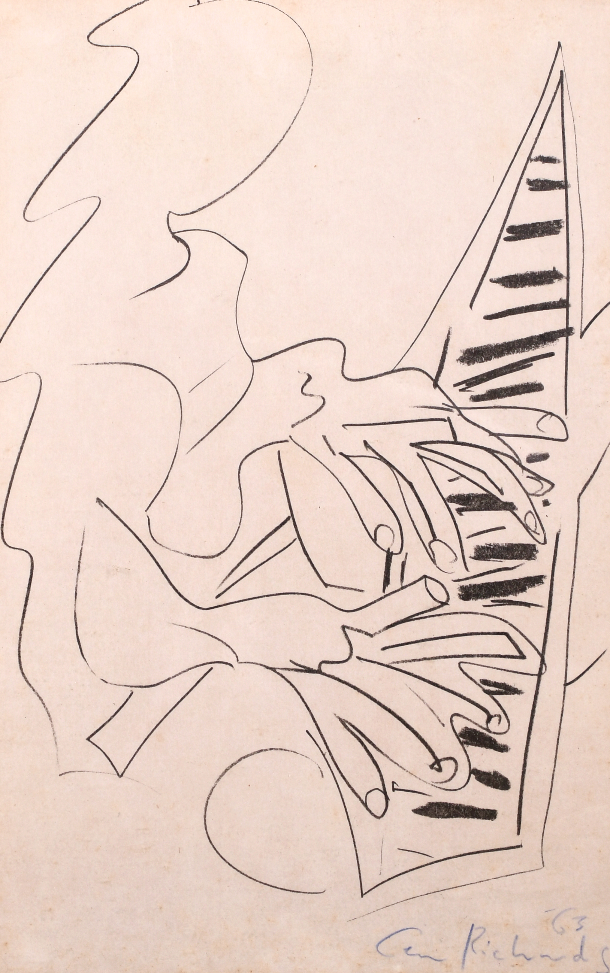 "Ceri Richards (1903-1971) British. ""The Pianist"", Lithograph, 19"" x 12.25"" (48.3 x 31cm)"