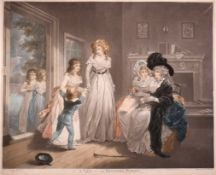 """After George Morland (1762/63-1804) British. """"A Visit to the Boarding School"""", Mezzotint,"""