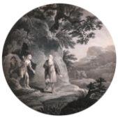 "After Robert Smirke (1752-1845) British. ""Morning"", Engraving, Shaped, Unframed, 12.5"" x 10.75"" ("